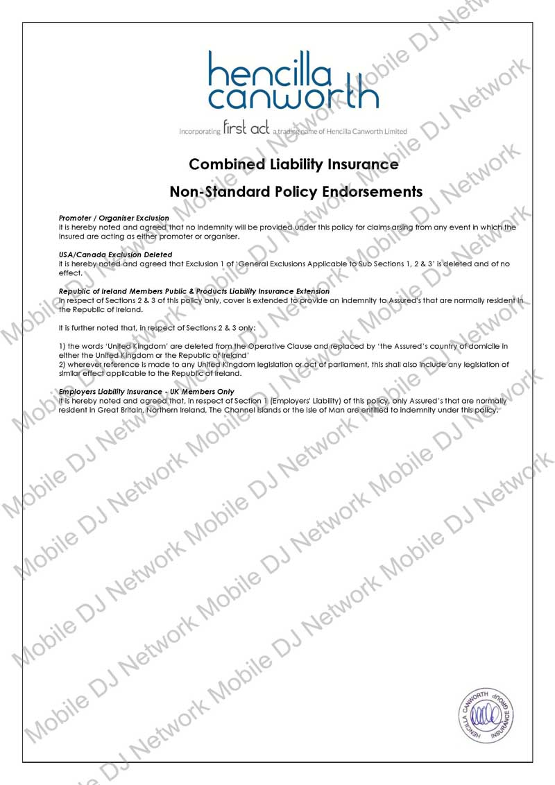 MDJN - Combined Liability Policy (2015) - abbr Page 02